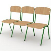 тримісний стілець з окремими сидіннями
