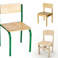 дерев'яні стільці для ДНЗ