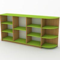 зелена дитяча стінка-стелаж