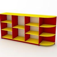 жовто-червона дитяча стінка
