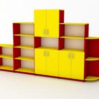 жовто-червона стінка-піраміда