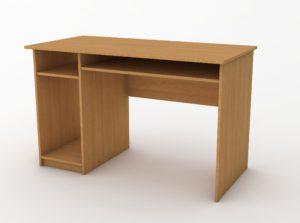 стіл з підставкою і полицями