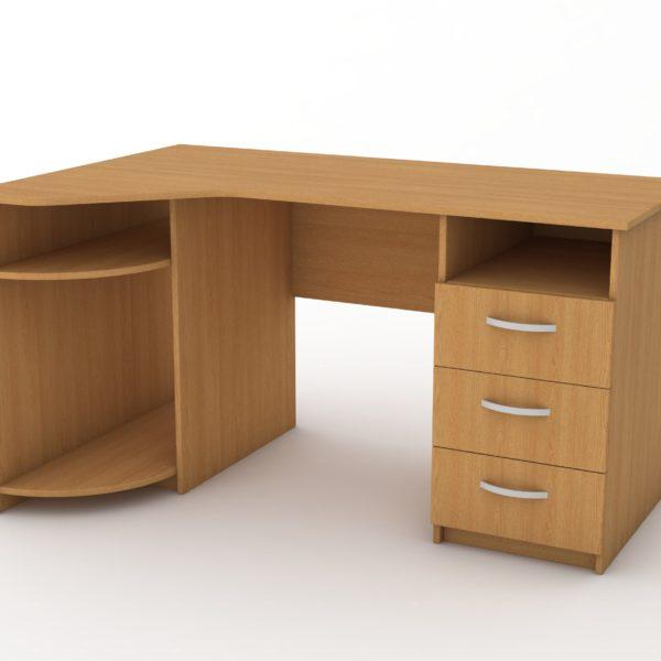 вугловий стіл для комп'ютерного кабінету