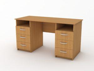 стіл з двох сторін шухляди
