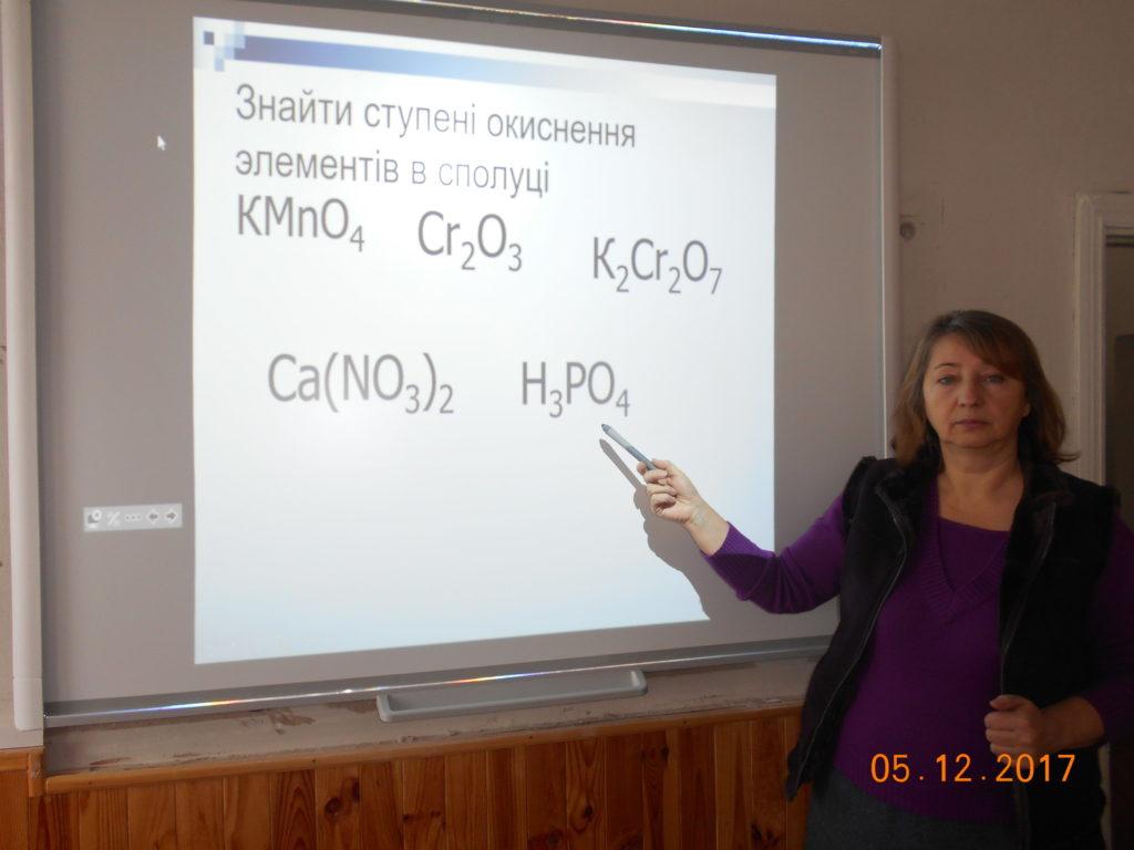 интерактивная доска в кабинете химии