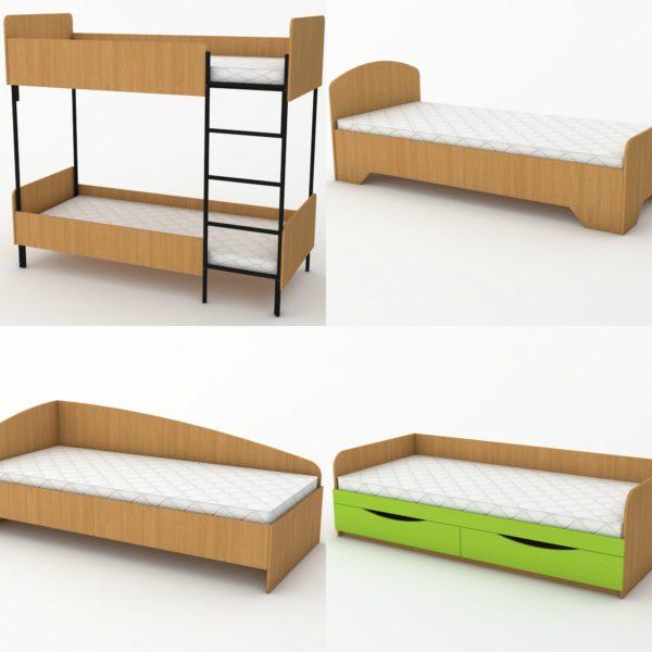 ліжка для ДНЗ і гуртожитку