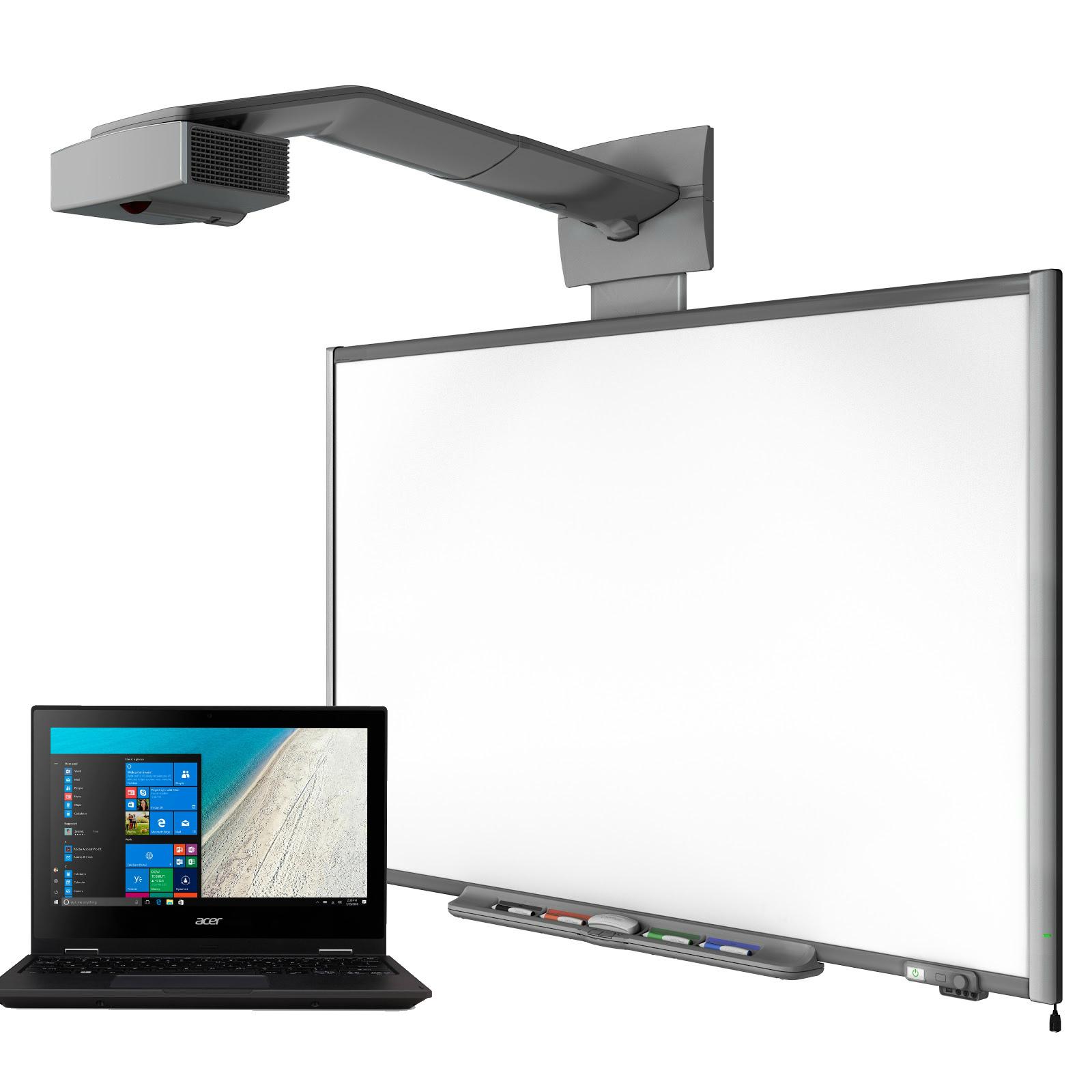 інтерактивний комплекс з ноутбуком, дошкою і проектором