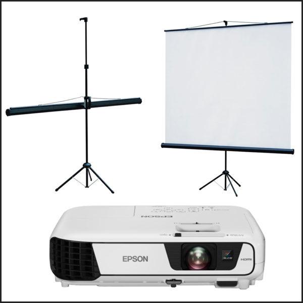 портативный проектор с экраном