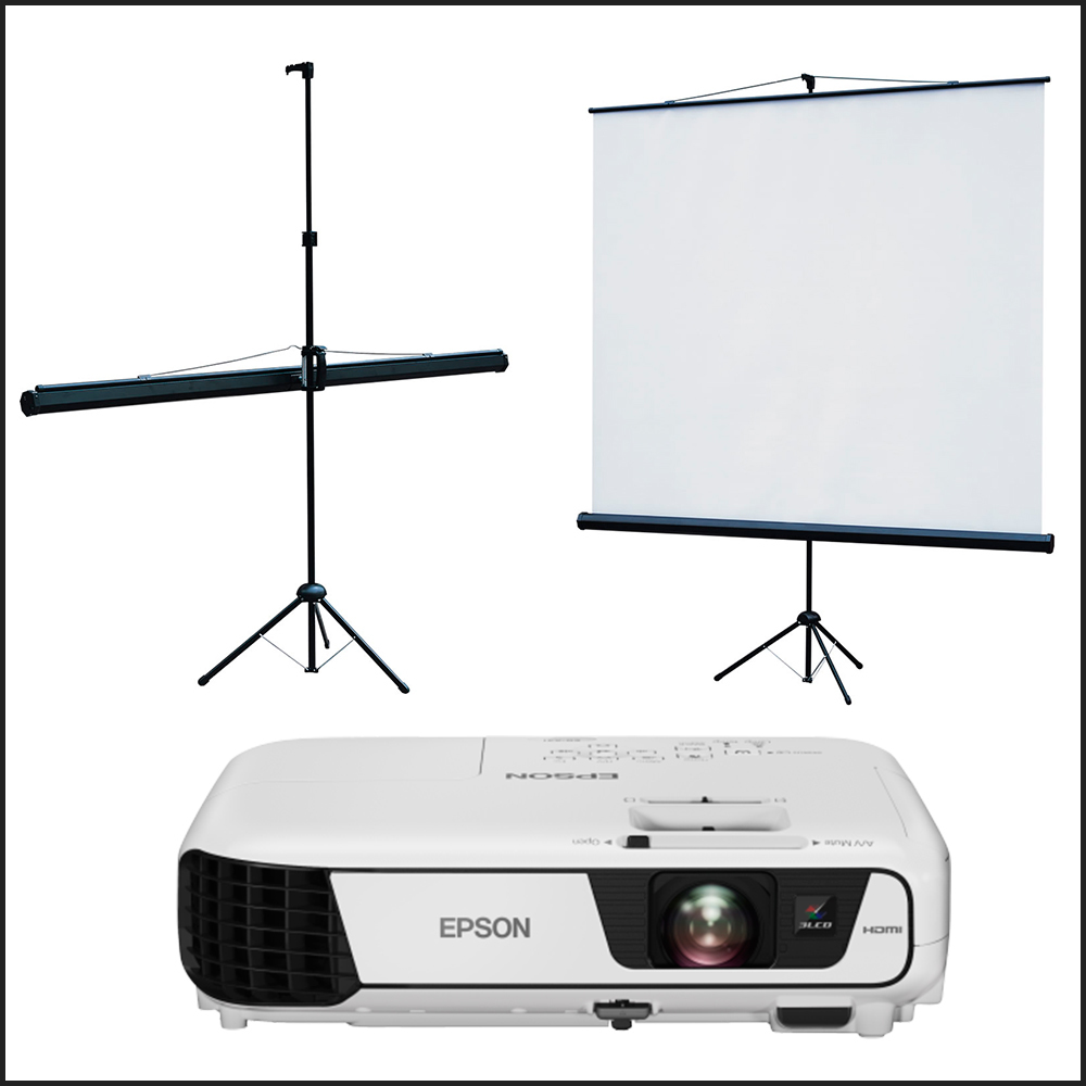 портативний проектор з екраном