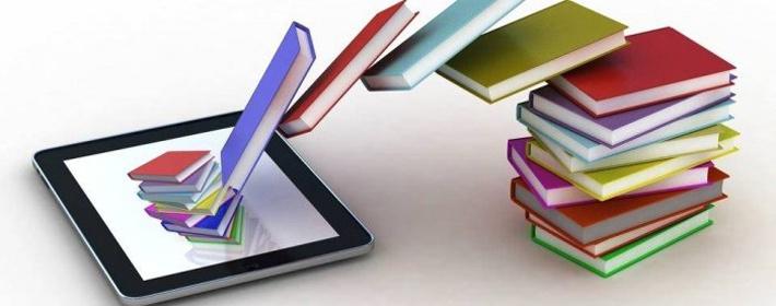 книги в електронному вигляді на планшеті займають менше місця